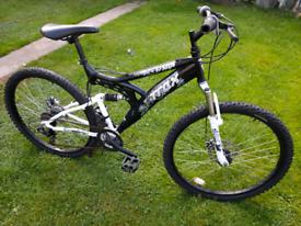 "Trax 26"" full suspension mountain bike"
