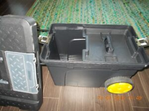Great tool box/chest on wheels for quick sale.