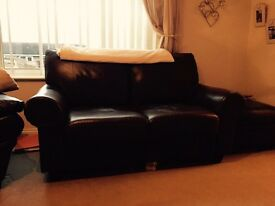 2 seater great condition Leather Sofa