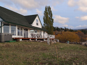Acreage with house, shop, and view of lakes 10min from Penticton