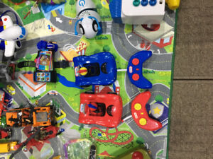 Large lot of kids toys - coda pillar, drill and design, race car