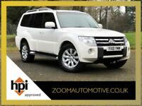 SOLD MITSUBISHI SHOGUN LWB 3.2 DI-DC ELEGANCE AUTOMATIC WHITE 2010 7 SEATER SOLD