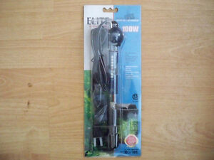 NEW IN PKG. ELITE SUBMERSIBLE 100 WATT AQUARIUM HEATER