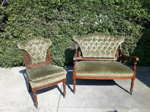 Antique Love Seat and Matching Chair - Beautiful Condition!