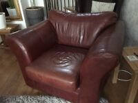 Leather snuggle chair by Next