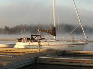 Voilier Jeanneau Attalia 32' 1984 Canadien. Au Lac Champlain