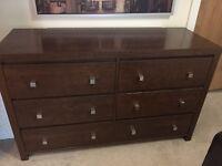 Whole Bedroom Furniture Set - Dark Super Quality solid Wood!