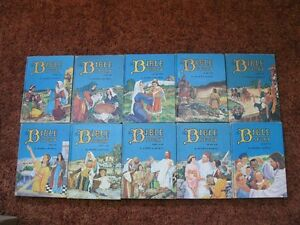 BIBLE STORIES, 10vol set, Uncle Arthur's - Used, gc
