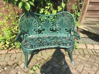 Cast iron bench .. shabby chic project