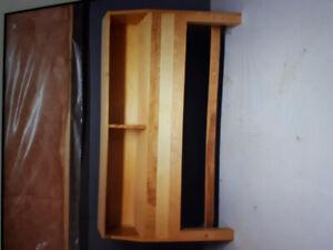 Wood Double bookshelf Headboard
