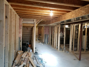 Professional basement framing for a great price .