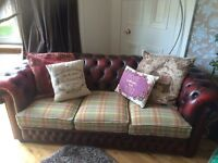 Chesterfield suite (3 seater couch, club chair and Queen Anne wingback armchair)