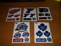 Hockey - 96 Stickers / Auto-collants d'équipe