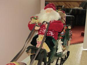 Decorative Santa in Sleigh with Reindeer Prince George British Columbia image 4