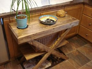 Rustic sofa/console table