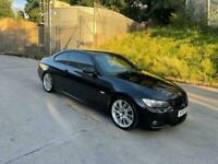 2007 07 REG BMW 320d M SPORT 2.0 TD 2 DOOR DIESEL COUPE MANUAL BLACK 175 BHP !!!