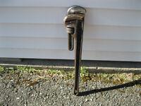 pipe wrench rigid 24 po acier 30.00