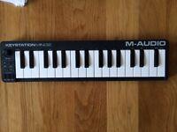 MIDI controller USB M Audio keystation mini32 like new keyboard