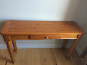 Hall table solid wood