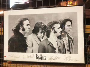 Beatles picture in glass frame $99