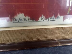 Mid Century Modern Royale Taverne 1963 Painting West Island Greater Montréal image 3