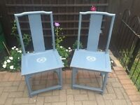 Large shabby chic chairs
