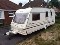 4 berth family caravan Bailey champagne with Isabella awning