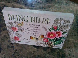 """"""" Being There"""" friendship plaque"""