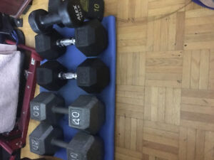 dumb bell Set 2x40lb 2x25lb 2x10lb $100 or best offer