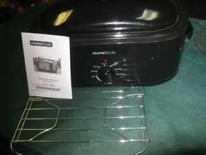 portable electric oven with rack and instructions