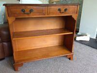 Hardwood hall table with drawers