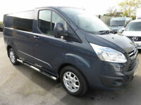 2014 Ford Transit 270 Custom LIMITED L1H1 LWB 6 seat CREW TDCi 125ps, LOW MILES