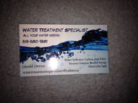 Water treatment sales and service