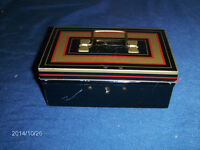 CHAD VALLEY TOY CO. METAL TREASURE CHEST BANK-1960'S-NO KEY