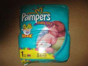 2 bags of 84  size 1 diapers