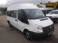 FORD TRANSIT 300 SHR 9 STR MINI BUS, White, Manual, Diesel, 2013
