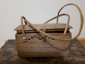 "Brand new! Handmade Woven Mini Bag L 6.5"" x W 2.5 x H 4"""