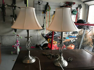 Matching decorative table lamps