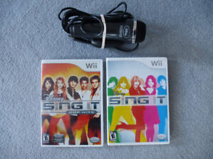 2 Wii Games - 2 Disney Sing It games with Mic