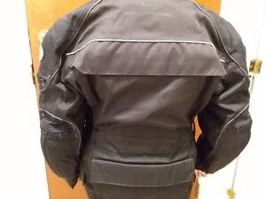 Manteau moto femme, chaps