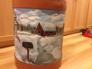 Antique Milk Can - painted by local artist Kitchener / Waterloo Kitchener Area image 3