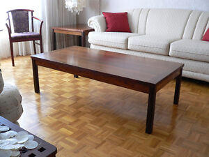 Brazilian Rosewood Coffee Table & Matching End Table