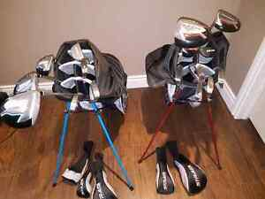 Mens right hand and ladies left hand Strata golf club sets