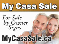 'For Sale by Owner' and 'Open House' SIGNS