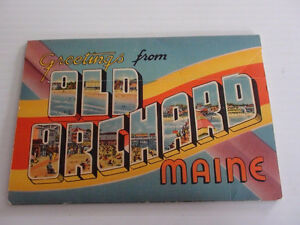 ANCIENNE CARTE POSTALE OLD ORCHARD MAINE 40's TICHNOR QUALITY