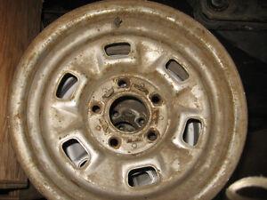 set of 4 Camero/Nova/Chevelle rally wheels, 14X7, sell/trade