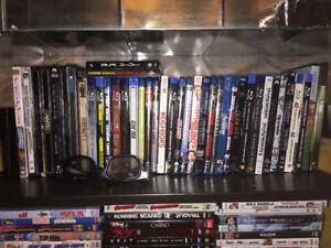 260+ Blue Ray and DVD's