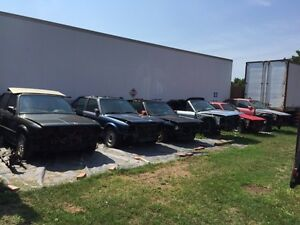 Breaking several old BMW cars 1972 - 2001