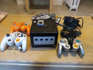 GameCube console with games for sale