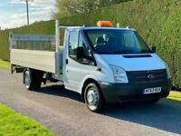 2013 63 FORD TRANSIT T350 TDCI 125PS LWB DROPSIDE * TAIL LIFT * ONE OWNER * DIES